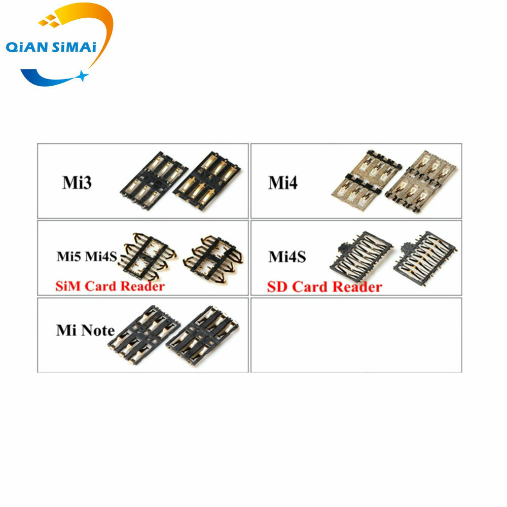 QiAN SiMAi 2PCS/Lot New SIM Card Reader Connector Junctor Replacement Parts For Xiaomi