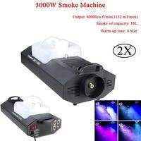 Professional 3000W Smoke Machine Wire Control Remote Control DMX512 Control Stage Fog Machine Disco DJ Stage Effect Equipment