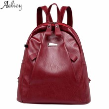 Aelicy 2019 Fashion Burglar-Proof Backpack Student School Bags For Women 2019 Casual Headset Travel Shoulder Bag Rucksack Girls(China)