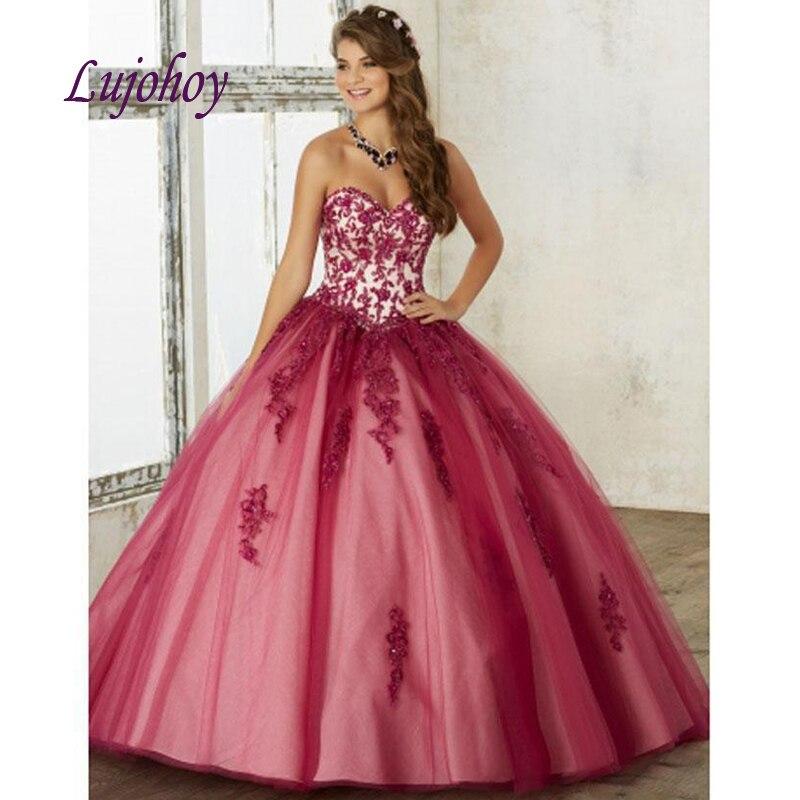 Luxe dentelle Quinceanera robes robe de bal grande taille 15 ans seize doux 16 robe robe de bal debutante