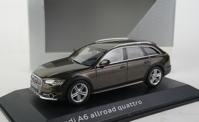 Free Shipping! Brown 1:43 Car Model AUDI A6 Wagon 2014 Diecast Model Car Classic Toys Car Replica Luxury Collection