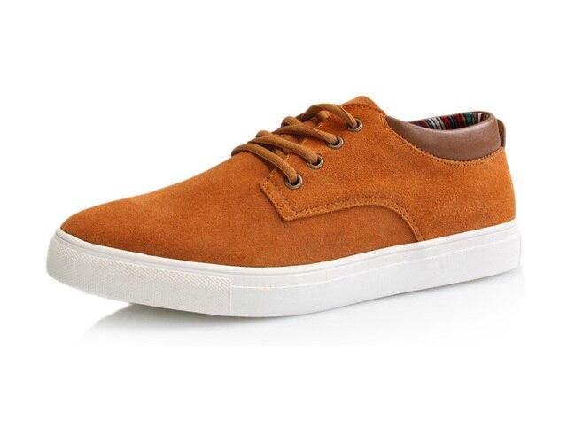 Newest fashion British style plus size nubuck leather men's athletic shoes big size EU 38-48 from manufacturer free shipping
