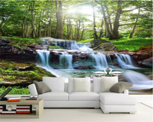 beibehang Custom size Modern classic eco wall paper papel de parede 3d wallpaper landscape waterfall living room TV background