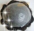 4 В Beautie Индивидуальные Супер Прочный Тонкий парик Кожи, все В Петлю на Силиконовой Основе, Система Волос Для мужчин