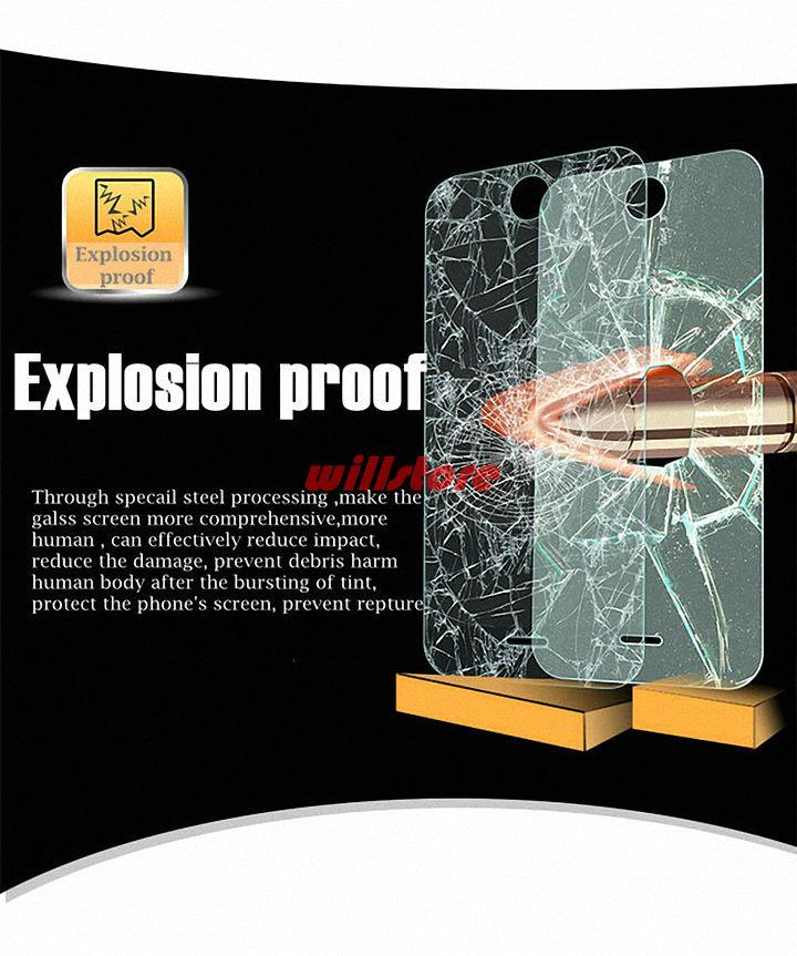 Temperli Cam Ekran Koruyucu güvenlik filmi DURUMDA HTC Desire 326g - Cep Telefonu Yedek Parça ve Aksesuarları - Fotoğraf 3