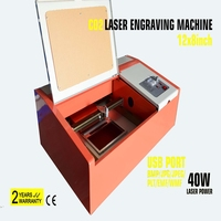 40W CO2 USB Laser Engraving Cutting Machine 300x200mm Engraver Cutter Wood working Crafts first