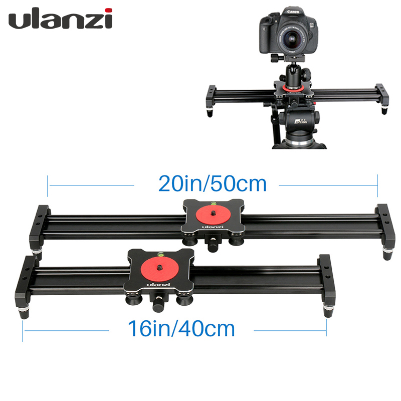 Ulanzi DSLR Camera Slider Rail System 40cm/50cm Aluminium Travel Track Dolly Telephone Slider for Nikon Canon Pentax for iPhone ulanzi 40cm 15in mini aluminum camera video track dolly slider rail system for nikon canon dslr camera dv movie vlogging gear