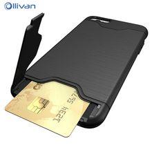Ollivan для iphone 6 6s cas броня пк 2 в 1 слот для карты держатель обложка для iphone 6 6s plus case телефон защита коке fundas