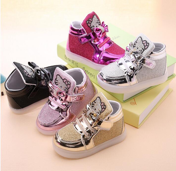 Glitter schoenen met led lichtjes – Meisjes