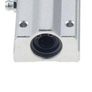 Image 2 - 2pcs/lot SC20LUU SCS20LUU 20mm long type Linear Ball Bearing Block CNC Router with LM20LUU Bush Pillow Block Linear Shaft CNC 3D