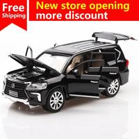 ant 2018 hot 1/24 LEXUS LX570 Diecasts & Toy Vehicles Car Model With Sound&Light Collection Car Toys Boy Children Gift birthday