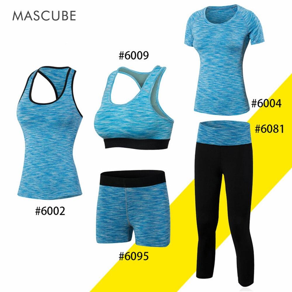 MASCUBE Jogging Breathable Suit Fashion Casual Gym Training Bodybuilding Quick Dry Yoga Women Set Clothing Fitness Sportswear