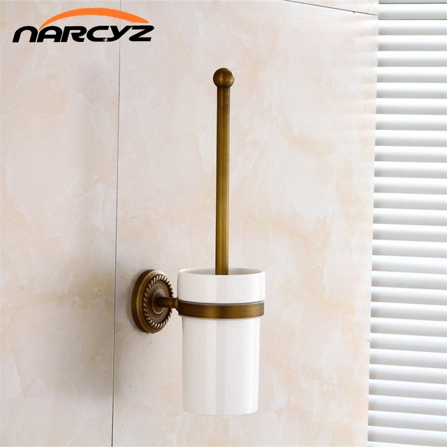 Toilet Brush Holders Ceramic Cup Antique Br Bowl Brushes Home Deco Wall Bathroom Accessories Wc