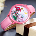 Miss Keke Fashion Kids Cute Quartz Watches 3D Handmade Clay Pretty Girls Cartoon Watches Leather Pink Casual Wristwatches 103