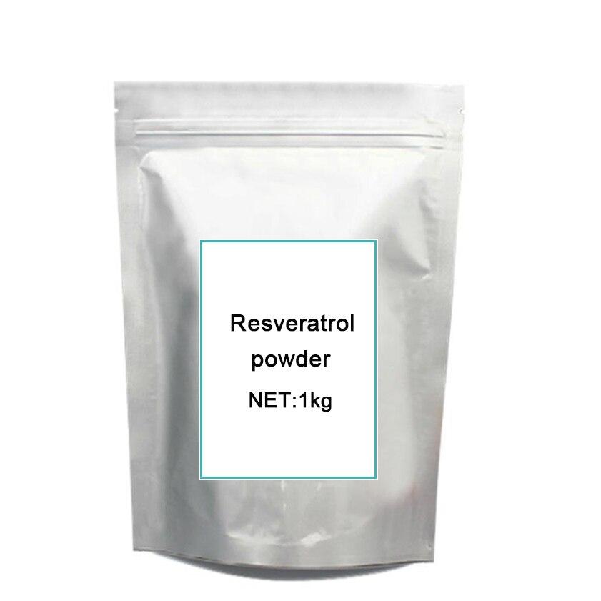 1 kg frete grátis Fabricante direto fornecimento pow-der Antioxidante Resveratrol Polygonum cuspidatum extrato CAS: 501-36-0