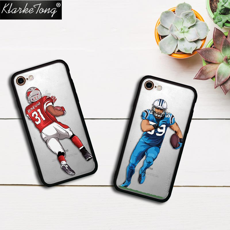 KlarkeTong Sport Star Player Soccer Football Case For iPhone X 8 7 6 6s Plus 5 5s SE Hybrid Silicone Matte Hard Back Phone Cover