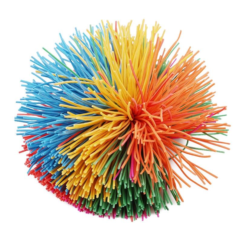 New Anti-Stress 6cm/9cm Baby Funny Stretchy Ball Rainbow Fidget Sensory Koosh Ball Stress Relief Kids Autism Special Needs