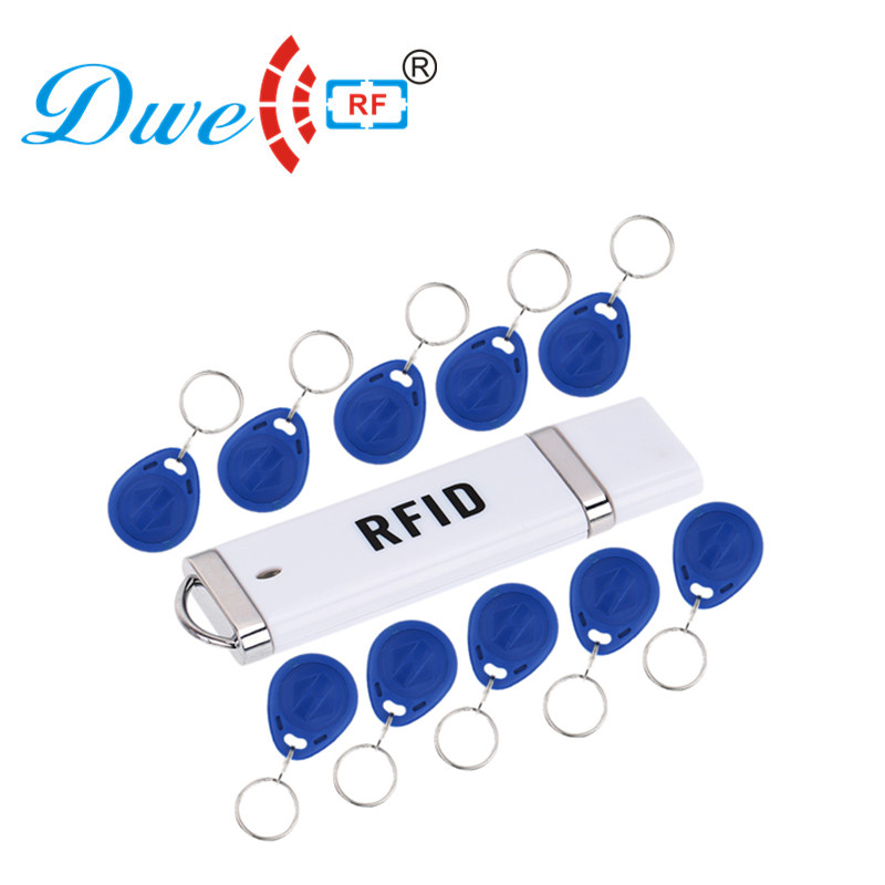 DWE CC RF Control card readers 5V EM id TK4100 portable rfid 125khz reader android usb with 10 tags free hot selling em id card reader usb 125khz rfid card reader