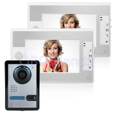 Best Price 7 TFT Color Video font b door b font phone Intercom Doorbell System Kit