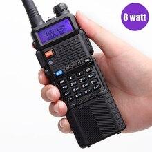 Baofeng 8 W UV-5R8W hermana UV82HP radio portátil baofeng walkie talkie 3800 mAh batería de 10 km de largo alcance con 3 antenas