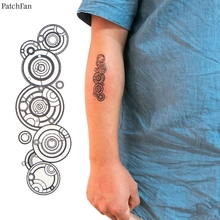 2pcs/set Patchfan Doctor who Annual ring diy Cool Temporary Body Art Tattoo Sticker for Shoulder Arm cosplay dropshipping A1163
