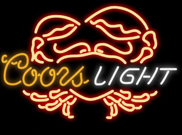 Custom Coors Light Crab Neon Light Sign Beer Bar