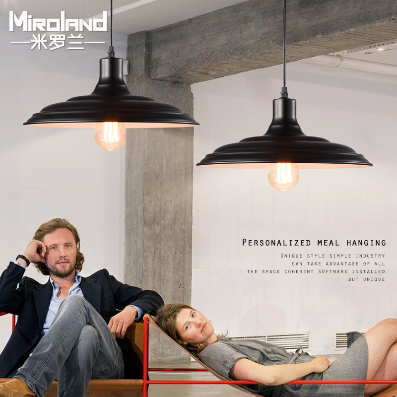 Loft American country Vintage industrial wind bar restaurant Pendant Lights minimalist Scandinavian Iron lighting - Ms zhou store