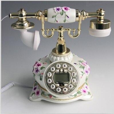 Хорошее искусство продажа пастырской античный цветной процесс рисования подарки стационарный телефон мелодии домашний циферблат номер