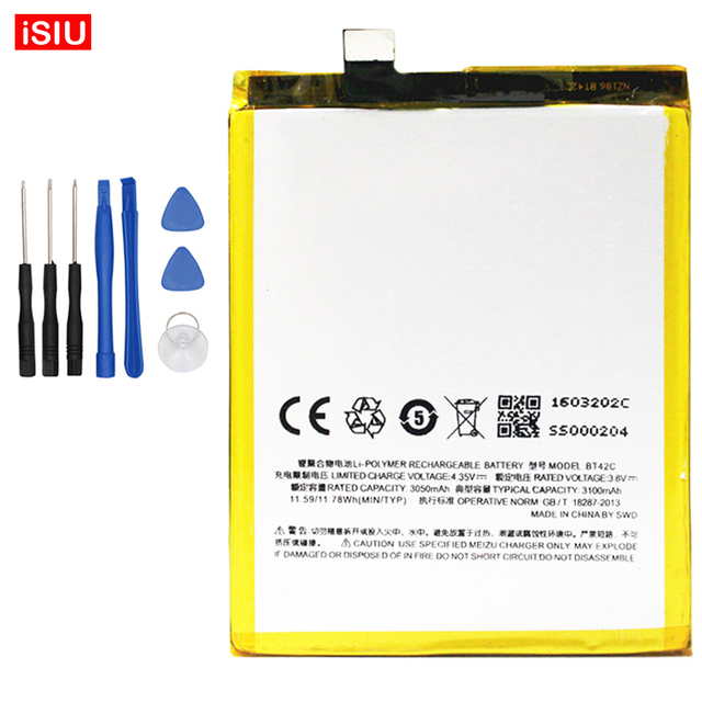 For Meizu M2Note Bateria 3100mAh BT42C New Battery For Meizu M2 Note + Tools