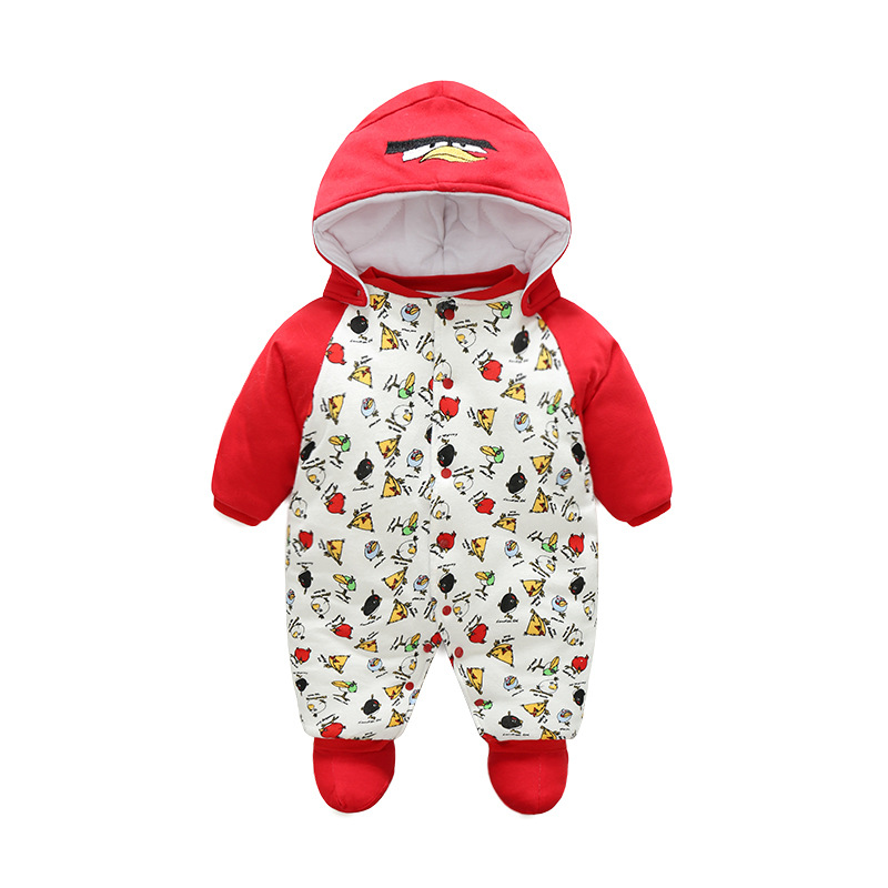Godier 2017 Winter Baby Rompers Overalls Clothes Jumpsuit Cute Birds Newborn Girl Boy Down Snowsuit Kids Infant Wear One piece 2017 new fashion cute rompers toddlers unisex baby clothes newborn baby overalls ropa bebes pajamas kids toddler clothes sr133