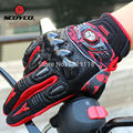 Genuine Leather Carbon Fiber Motorcycle Gloves Dirt Bike Moto luvas para guantes motocross Off Road ATV racing glove