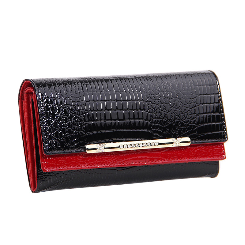 New Fashion Crocodile Women Wallets Genuine Leather High Quality Long Female Wallets Brand Designer Clutch Casual Womens Purses 500 pcs copper insulated ring terminal rv 5 5 6 insulated ring terminal connector