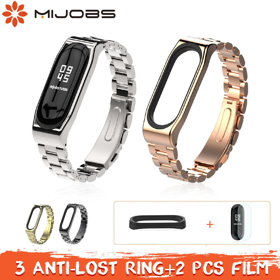 Mi jobs mi Band 3 Metall Strap für Xiao mi mi Band 3 Armband Armband Smart uhr Armband Edelstahl correa mi band 3 Strap