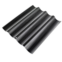 1pc Wave French Bread Baking Tray Non-Stick Baguette Mould Cake Toast Mold Tools LFD