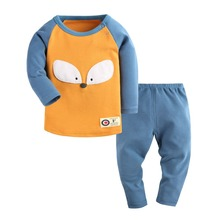 Infant Babies House Clothes 2 pcs Top+Pants Cotton Clothing Set Girls Boy Long Sleeve Jumpsuits 2016 New Autumn