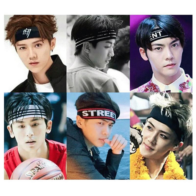 Korean Unisex High Elastic Sports Hair Band Yoga Fitness Running Sweat-absorbent Fashion Headband Quick-Drying Sweatband