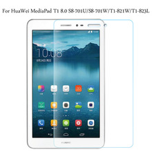 Tempered Glass membrane For HuaWei MediaPad T1 8.0 S8-701U/S8-701W/T1-821W/T1-823L Steel film Tablet Screen Protection Toughened аксессуар чехол huawei mediapad t1 8 0 s8 701u s8 701w cojess transcover red