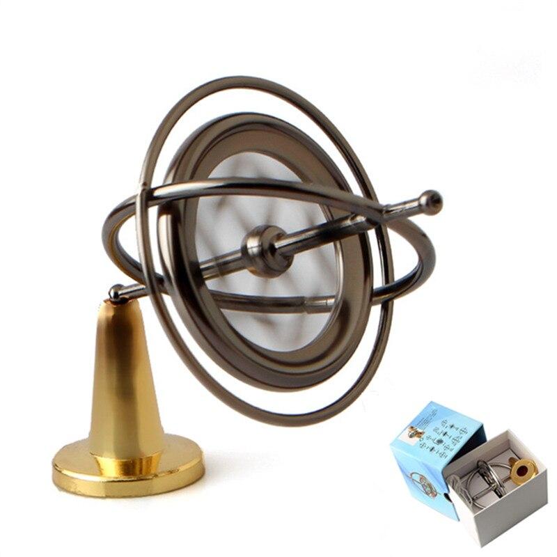 Metal Magical Balance Spinning Top Magic Gyroscope Gyro Intellectual Gryo Toy Education Ornament Kis Christmas Gift