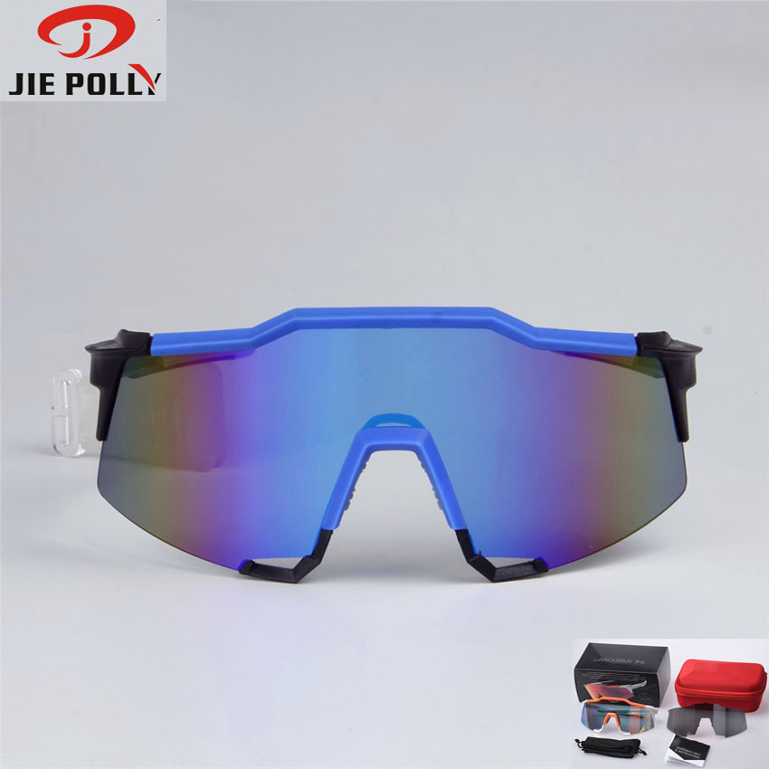 JIEPOLLY 100% Speedcraft Cycling Glasses Outdoor Bicycle Sunglasses MTB Road Bike Ciclismo oculos Men Women Cycling Eyewear wolfbike cycling glasses outdoor skiing eyewear sports sunglasses motocross bike bicycle eyewear snowboard oculos ciclismo 2017