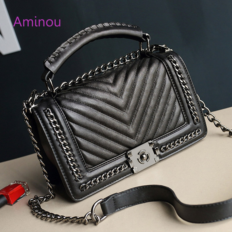 Aminou Shoulder Women Messenger Bag For Girls Diamond Lattice Chain Bags Fashion Handbags Desinger 2017 Fashion Crossbody Bags glitter sequins women pu chain handbags messenger crossbody bags party shoulder sling bags fashion girls shinning clutch bags