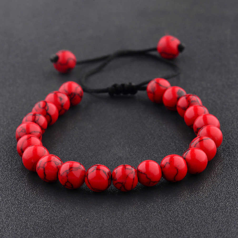 2019 New Couples Men Women Beads Classic Natural Stone Beaded Bracelets for Men Women Fashion Jewelry Accessories Dropshipping