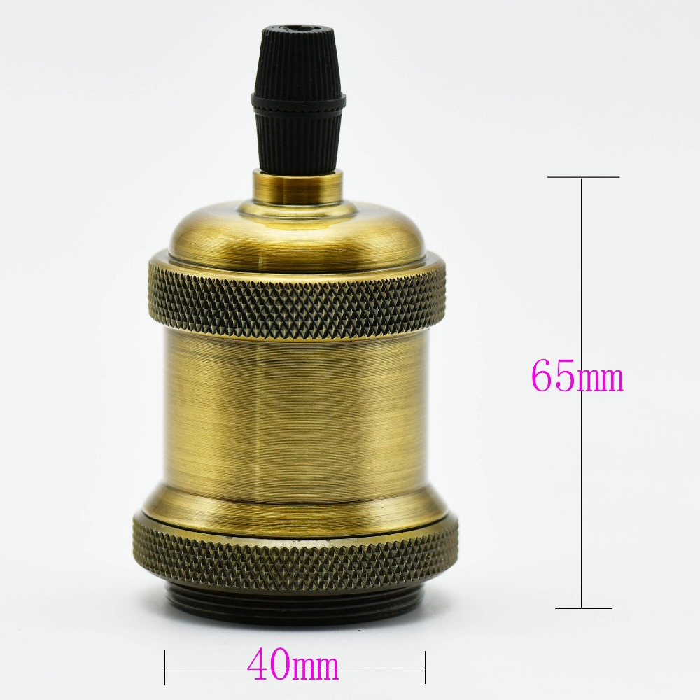 1PC E27 Antik Lampa Sahibi Loft Vint Edison Lampa Soket Vintaj - İşıqlandırma aksesuarları - Fotoqrafiya 3