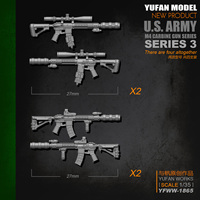 Yufan Model Original 1/35m4 Rifle 3 Model Resin Soldier Accessories Length 2 3CM Yfww 1865