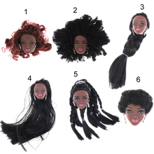 6 Styles Fashion Black Hairstyle Best For Girls Doll Hair Head Africa Dolls as for 1/6