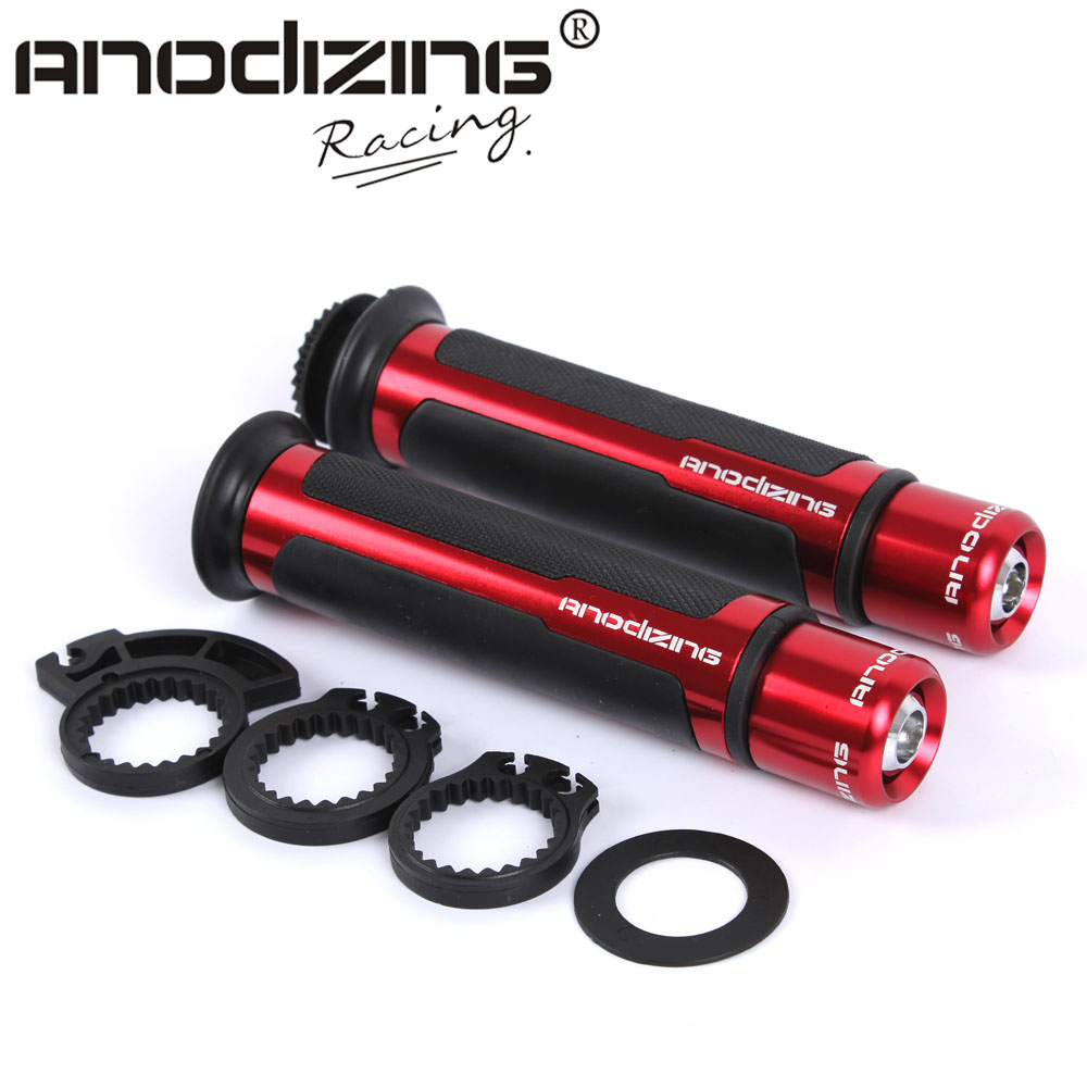 THE HOT ANODIZING 7/8'' Motorcycle Handle CAPS / Handlebar Grips CNC 22MM Universal Street & Racing Moto Racing Grips skull heads pattern rubber motorcycle racing handlebar grips blue pair