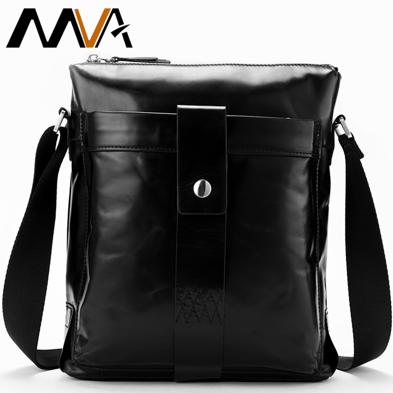 MVA Male Genuine Leather Messenger Bags Men's Travel Business Crossbody Shoulder Bag for Man Sacoche Homme Bolsa Masculina 8721 crazy horse genuine leather messenger bags men travel business crossbody shoulder bag for man sacoche homme bolsa masculina
