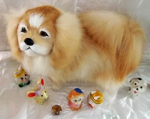 new creative simulation Pekingese dog toy polyethylene furs Pekingese dog doll gift about 32x25cm