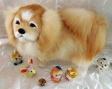 new creative simulation Pekingese dog toy polyethylene&furs Pekingese dog doll gift about 32x25cm