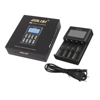 GOLISI 2 Slots /4 Slots 2A Smart LCD Battery Charger Charging for Li ion 18650 26650 AA & AAA Ni MH Ni cd Rechargeable Batteries