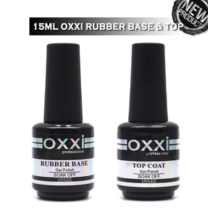 oxxi Latest 15ml Nail Rubber Base Coat Semi Permanant UV Gel Varnishes Primer for Nails Matte Top Coat Nail Art Base Top Gellak(China)